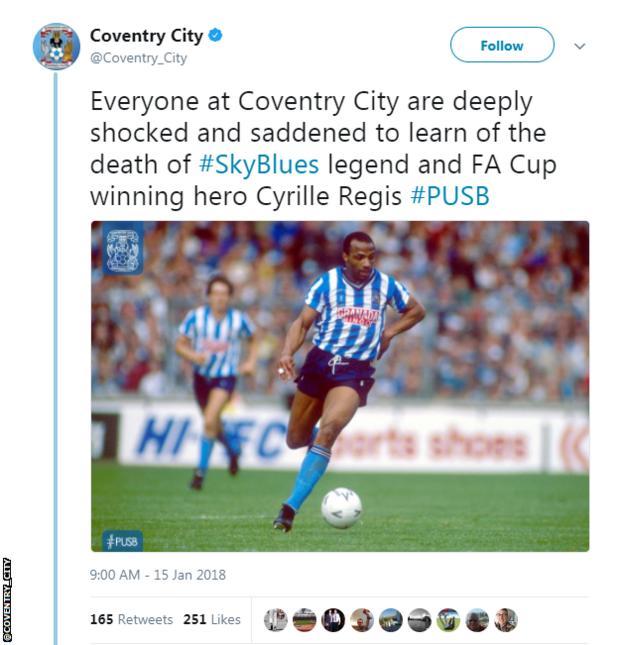 Coventry City tweet