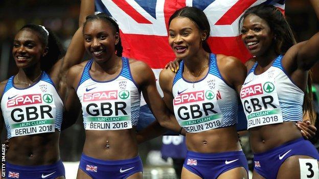 GB 4x100m relay squad