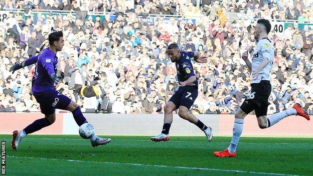 Kemar Roofe scored for Leeds United