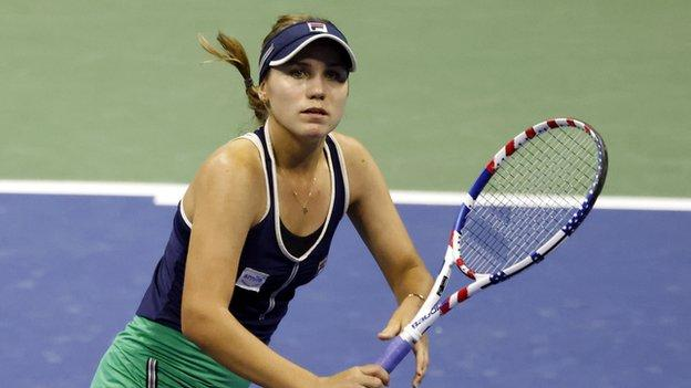 Us Open 2020 Second Seed Sofia Kenin In Tears After Tournament Exit Bbc Sport