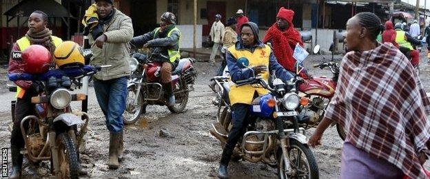 """'Boda boda""""' riders in Nairobi, Kenya, 27 November, 2015"""