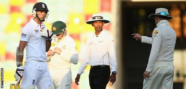 Australia captain Michael Clarke was fined 20% of his match fee for using an obscenity while warning James Anderson to expect a broken arm in the first Test at the Gabba