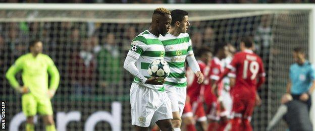 Celtic cannot reach the knock-out phase of the tournament