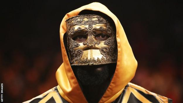 Deontay Wilder is a mask before his first fight against Luis Ortiz