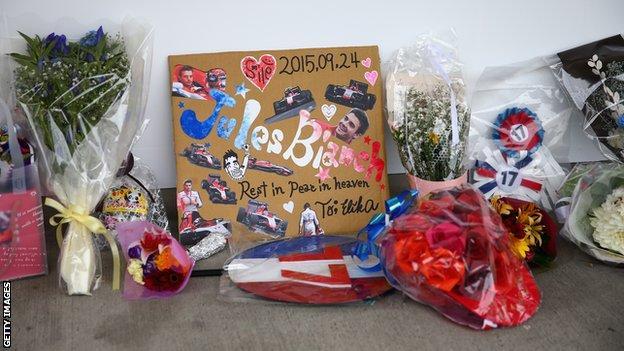 Jules Bianchi tributes
