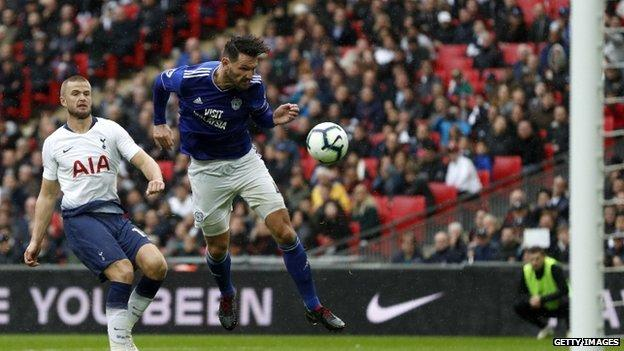 Sean Morrison in action for Cardiff against Tottenham on Saturday