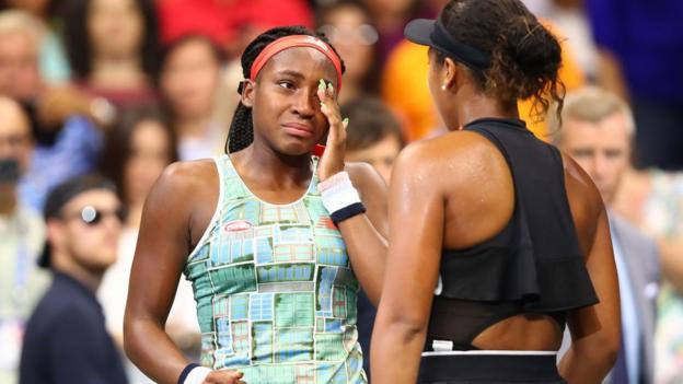 US Open 2019: Naomi Osaka warms hearts by consoling Coco Gauff thumbnail