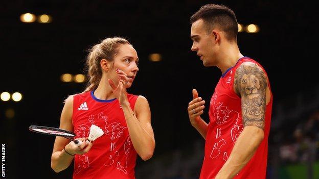 Husband-and-wife team Gabby and Chris Adcock