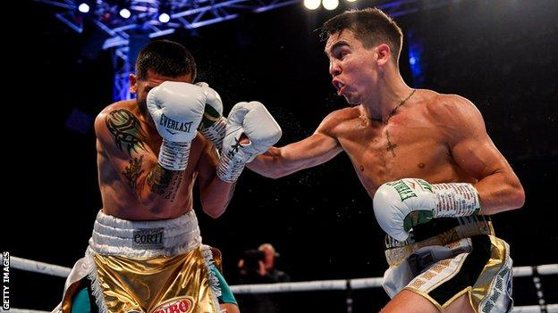 Michael Conlan on his way to beat Diego Albert Ruiz during the summer