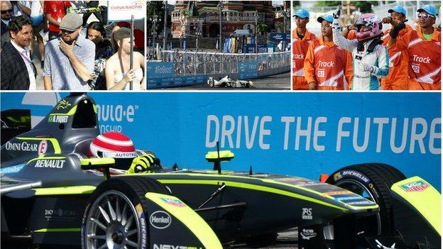 Formula E collage