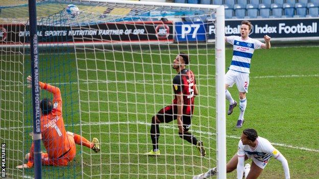 Todd Kane scores for QPR against Bournemouth