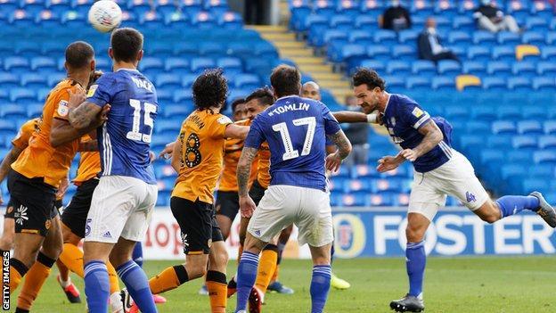 Sean Morrison scores Cardiff's second goal