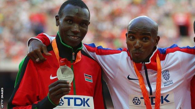 Geoffrey Kamworor and Mo Farah