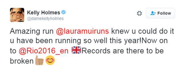Kelly Holmes tweet