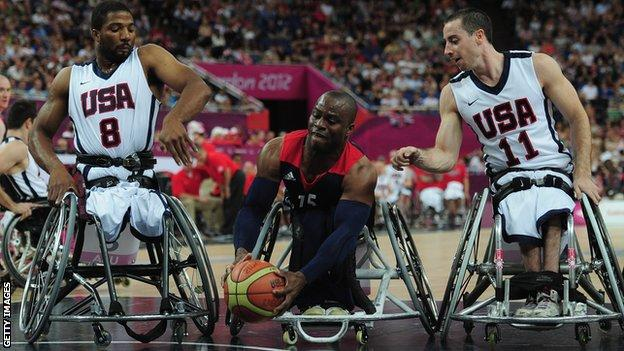 GB vs USA wheelchair basketball