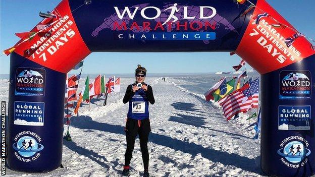Susannah Gill in Antarctica