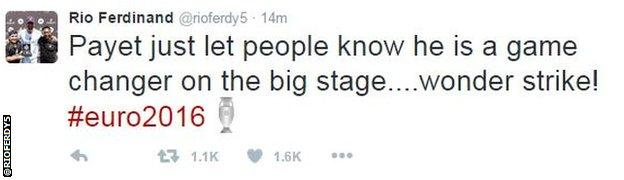 Rio Ferdinand tweet