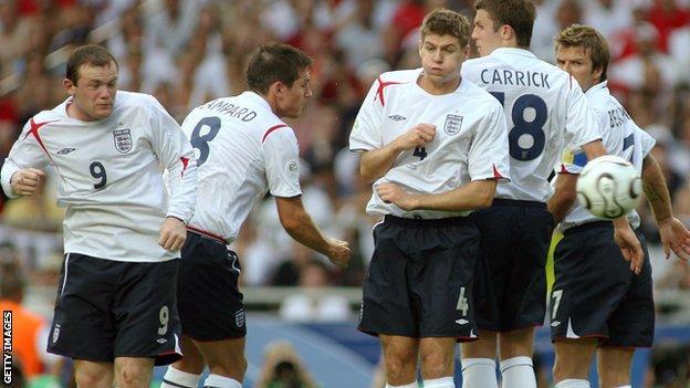Carrick Frank Lampard Steven Gerrard