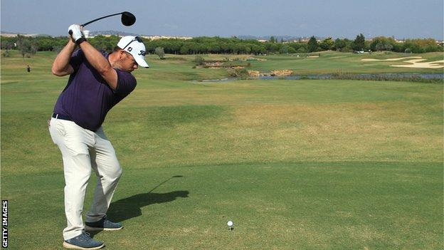 George Coetzee in final-round action in Portugal