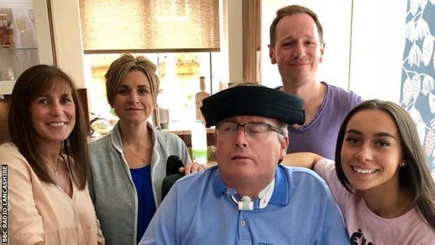 Deborah Parkinson (left), Gail Hull, Gary Parkinson (centre), Andy Bayes and Chloe Parkinson (right)
