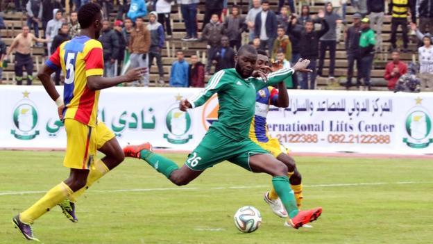 Al Ahli in action against Ghana's Hearts of Oak in a friendly in December 2015