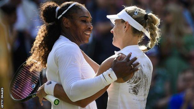Serena Williams and Angelique Kerber