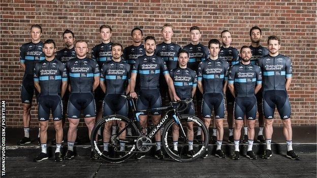 Team Novo Nordisk cyclists
