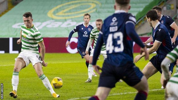 David Turnbull steers in the opening goal for Celtic