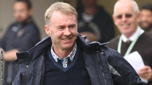 John Sheridan was able to celebrate a point earned in his first game as Newport manager