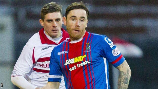 Inverness Caledonian Thistle midfielder Greg Tansey