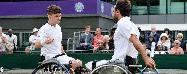 Reid and Michael Jeremiasz finished runners-up in the wheelchair doubles at Wimbledon
