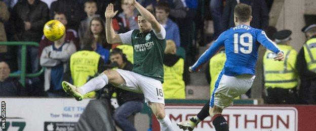 Rangers winger Barrie McKay thumped in a great goal from long range