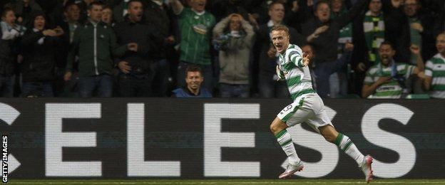Leigh Griffiths scored twice in an impressive display for Celtic