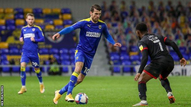 Striker Adam Roscrow joined AFC Wimbledon from Cardiff Met in June 2019