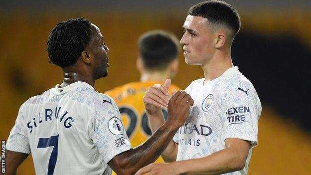 Raheem Sterling and Phil Foden