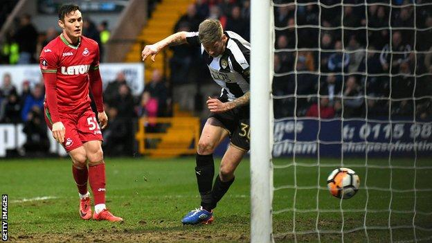 Jon Stead scores for Notts County