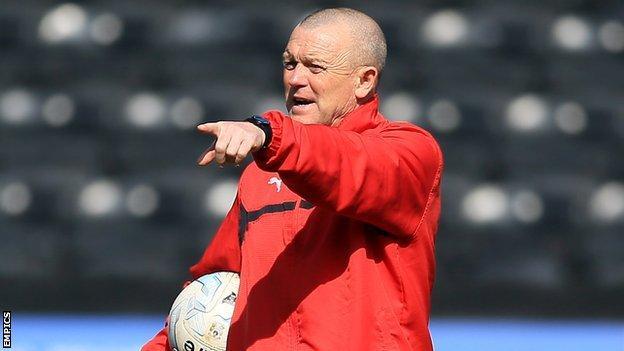 Kidderminster Harriers head coach Dave Hockaday