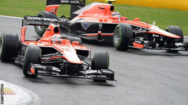 Jules Bianchi and Max Chilton