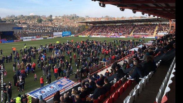 Exeter stadium evacuated