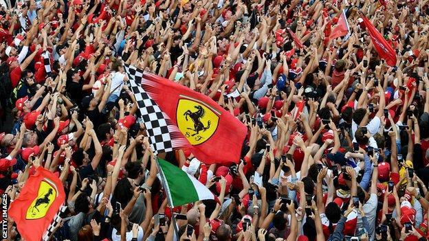 Ferrari celebrate