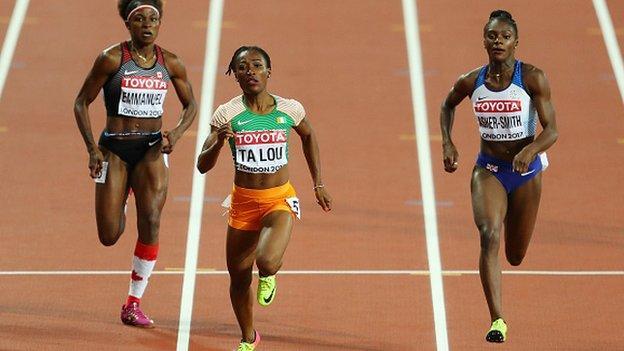Marie-Josée Ta Lou sacrée vice-championne des 200m