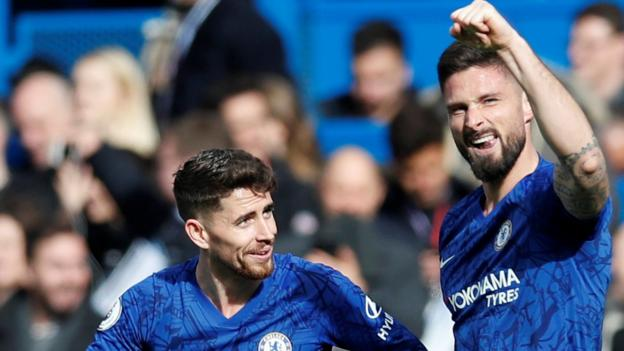 Chelsea 2-1 Tottenham: Giroud and Alonso score as Blues tighten grip on fourth thumbnail
