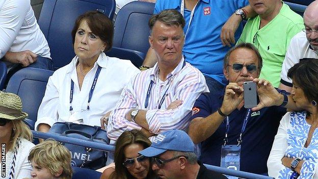 Louis van Gaal in the stands at the US Open final of 2016