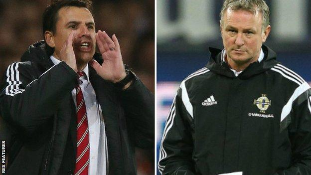 Chris Coleman (left) & Michael O'Neill