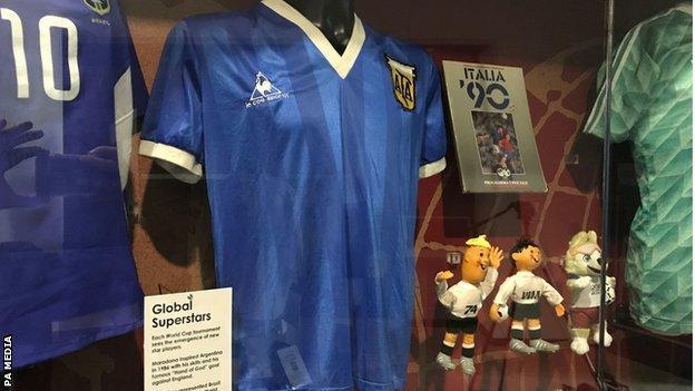 Diego Maradona shirt from 1986 World Cup