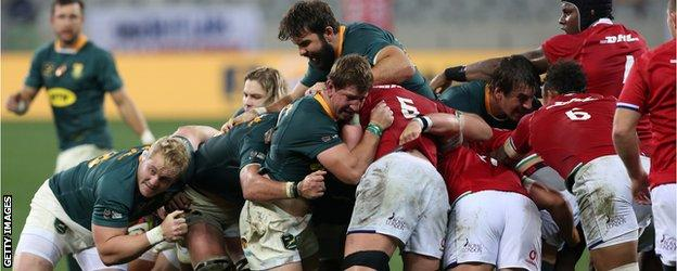South Africa and the lions in their mouths