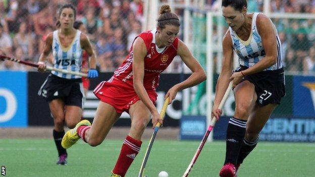 Lily Owsley against Argentina