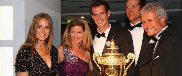 Nigel Sears, Kim Sears and Andy Murray