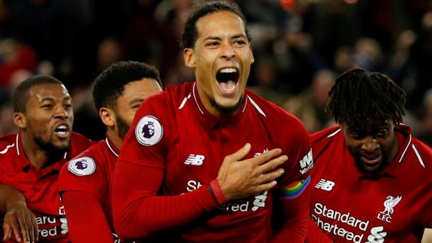 Coronavirus: Liverpool's Virgil van Dijk pledges to take Premier League title to fans thumbnail
