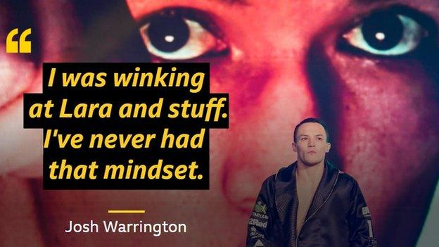 Warrington says his mindset before the fight was one of many factors influential on the result